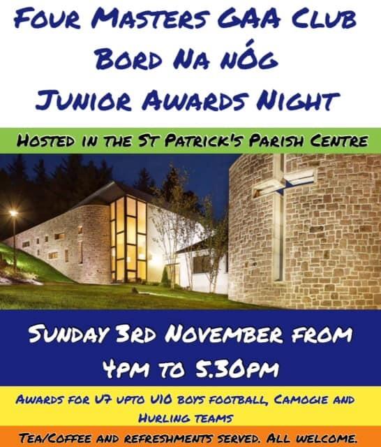 Bord na nÓg: Junior Awards Night, 3 November 2019