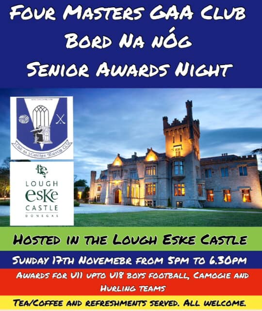Bord na nÓg: Senior Awards Night, 17 November 2019